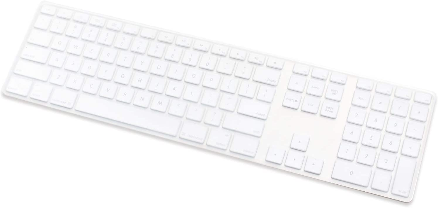 Masino Silicone Keyboard Cover Ultra Thin Keyboard Skin for Apple Magic Keyboard with Numeric Keypad A1843 MQ052LL//A Released in 2017 -Clear US English Layout