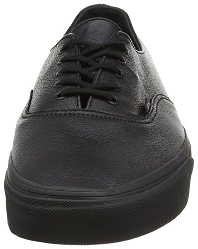 Vans - Authentic Decon, Zapatillas Unisex adulto Negro (premium Leather/black/black)
