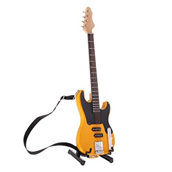 Amazon.es: F Fityle Mini Bajo Eléctrico Bass de Madera con Soporte de 20cm Adornos de Muñecas Escala 1/6 - Amarillo: Juguetes y juegos