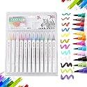 水彩毛筆 水性筆 カラーペン 水彩 水性ペン 絵の具 塗り絵 画筆 絵用 美術用具 子供用画材 12色セット