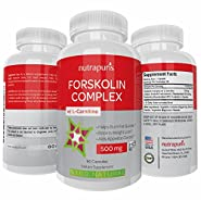 Optimal Forskolin with L-Carnitine Weight Loss Supplement 60 Capsules Pure Coleus Forskohlii Powder 500mg per Serving Fat Burner Maximum Energy to Enhance Physical Performance 100% Happiness Guarantee!