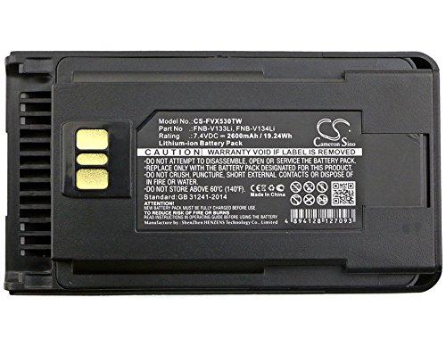 Cameron Sino 2600mAh Li-ion High-Capacity Replacement Batteries for Vertex VX-260, VX-261, EVX-530, EVX-531, EVX-534, EVX-539, fits Vertex FNB-V133Li, FNB-V134Li by Cameron Sino