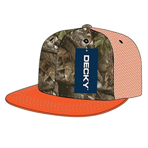 DECKY Flat Bill Hybricam Trucker Snapback Cap_GBR/Orange_One - Snapback Deals Monday Cyber