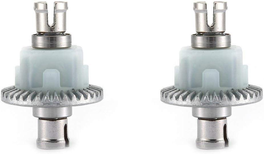 Differential Getriebe Getriebe Lager Ersatzteile Getriebe Vorder und Hinterachse Differential F/ür XLH 9125 RC Auto Silber DEjasnyfall