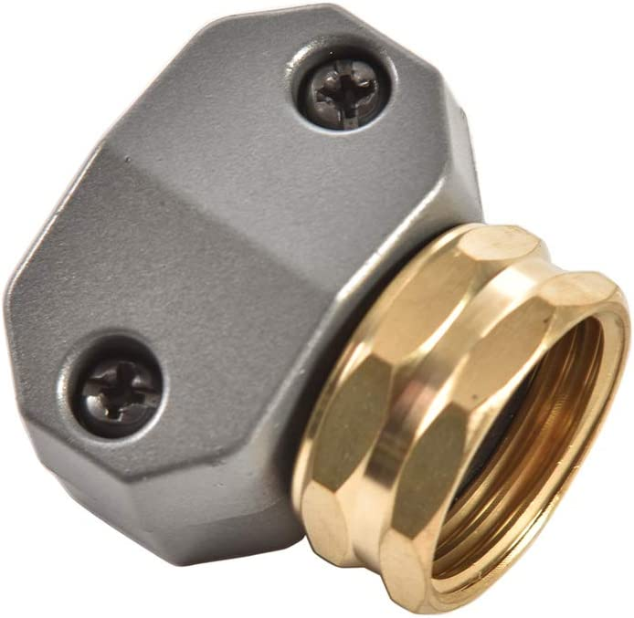 """REGNHLIF Zinc and Brass Female Clamp Coupling,Fits 3/4"""" or 5/8"""" Garden Hose Repair Fitting"""