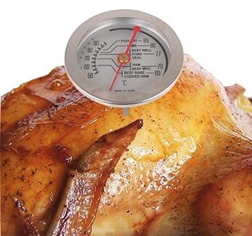 Edelstahl Kuchen Thermometer Analog Bratenthermometer Fleisch
