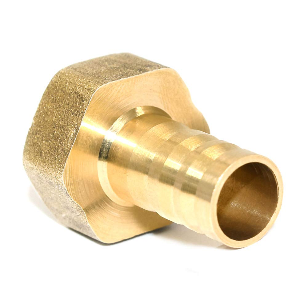 Pack of 2 Joywayus Brass Hose Barb Fitting,1//2 Barb x 1//2 NPT Female Pipe Fitting Adapter