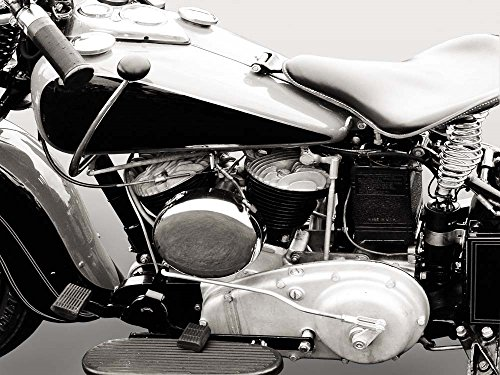 Vintage American V-Twin Engine (Detail) by Gasoline Images Art Print, 51 x 38 inches