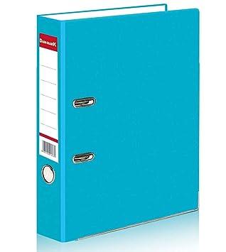 Archivadores con palanca en arco 1 5 o 10 A4 Matt, grande 75 mm., material de metal para oficina, almacenamiento de documentos, color turquesa: Amazon.es: ...