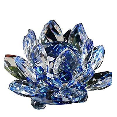 Hot Sale!!1PC Lotus Crystal Glass Collection Lotus Figure Paperweight