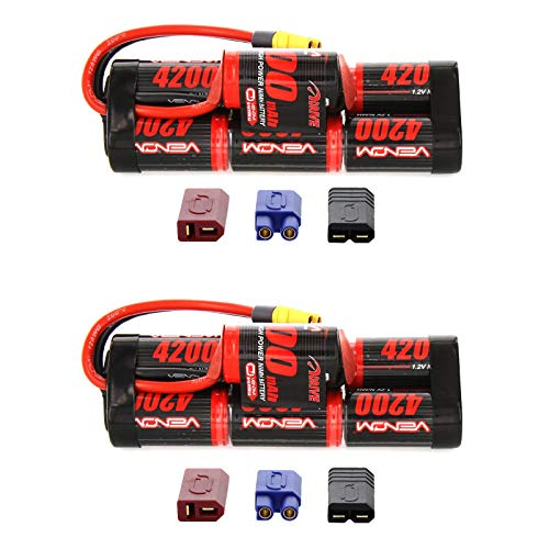 (Venom 8.4V 4200mAh 7-Cell Hump NiMH Battery with Universal Plug (EC3/Deans/Traxxas/Tamiya) x2 Packs)