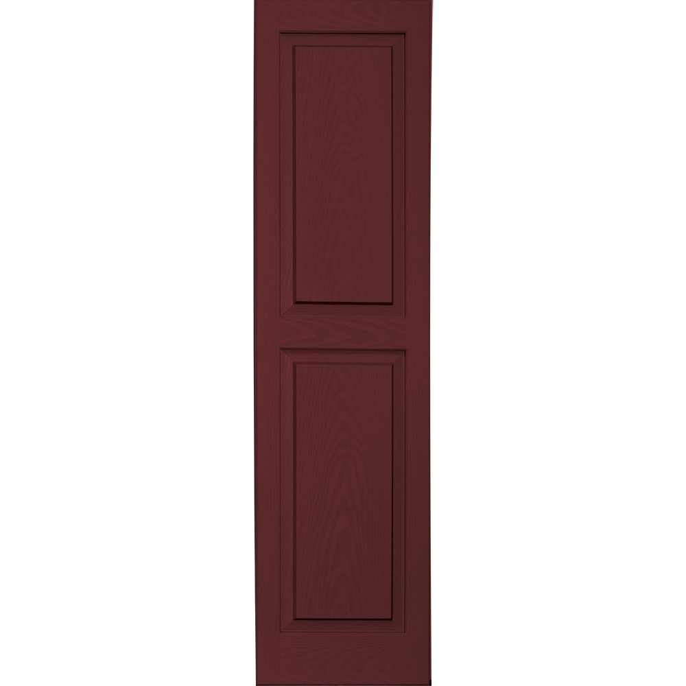Vantage 3114055989 14X55 Raised Panel Shutter/Pair 989, Cranberry