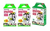 Fujifilm Instax Mini Instant Film, 5 Pack BUNDLE Includes Qty 2 Instax Mini Twin 10 Sheets x 2 packs = 40 Sheets + Instax Mini Single 10 Sheets: Total 50 Pictures