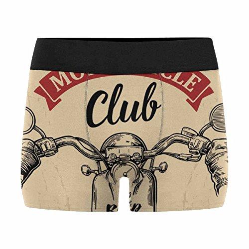 Biker Boxer Brief - InterestPrint Mens Boxer Briefs Underwear Biker Driving A Motorcycle Rides L