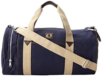 Fred Perry Men's Classic Canvas Barrel Bag, Carbon Blue, One Size