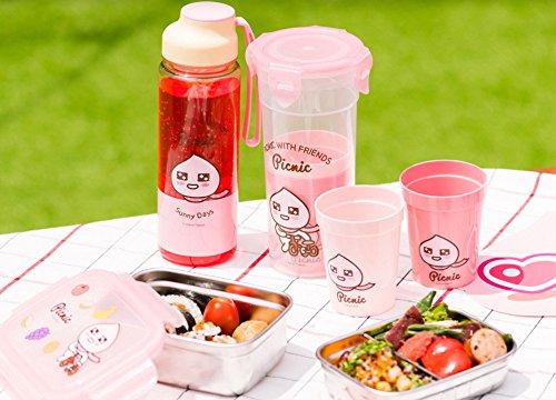 KaKao Friends Negozio ufficiale genuino cacao gli amici pranzo Box Set Picnic pranzo Set Box Tumbler Cup forcella Set tessuto bagnato Picnic Set Lunchbox