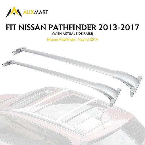 (AUXMART Roof Rack Cross Bars for 2013-2017 Nissan Pathfinder (Silver))