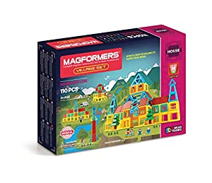 MAGFORMERS Village Set (110 Piece)