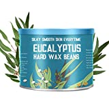 Facial Hair Removal Laser Price - 【Eucalyptus Essential Oil】Yeelen Essential Oil Hard Wax Beans Hair Removal Wax Beads with 10 Applicator Sticks for Facial Body Brazilian Bikini At Home Waxing, 10.58oz/300g