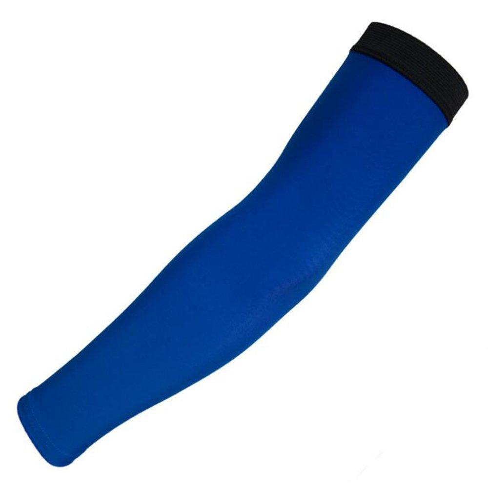 Arm Sleeve UV, Summer Anti-UV Ice Silk Cooling Arm Sleeves Sunscreen Sleeves 1 Pair Blue L