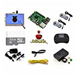 Raspberry Pi Retro Gamepads Kit with 5 inch Monitor, Pre-Installed Emulators. For Nintendo NES, NEOGEO, MAME, GAMEBOY, SEGA, NINTENDO SUPER and so on.