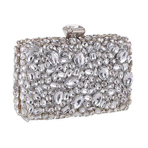 Hombro Black Tarde Diamante Banquete Cute De color Kervinfendriyun Mini Yy4 Embrague Silver La Bolso Del Acrílico Small ZTn4tq