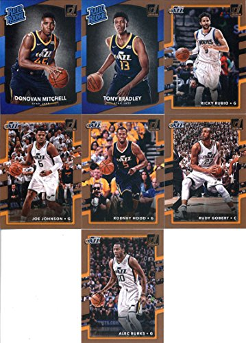- 2017-18 Donruss Basketball Utah Jazz Team Set of 7 Cards: Alec Burks(#141), Rudy Gobert(#142), Rodney Hood(#143), Joe Johnson(#144), Ricky Rubio(#145), Tony Bradley(#173), Donovan Mitchell(#188)