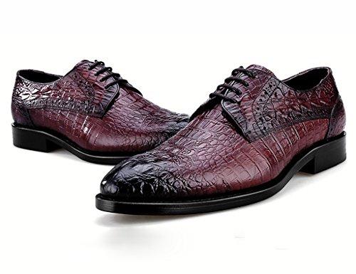 Herren Lederschuhe Herren Business Formal Wear Lederschuhe Spitze spitzen Herrenschuhe Herrenschuhe ( Farbe : Schwarz , größe : EU40/UK6.5 ) Weinrot