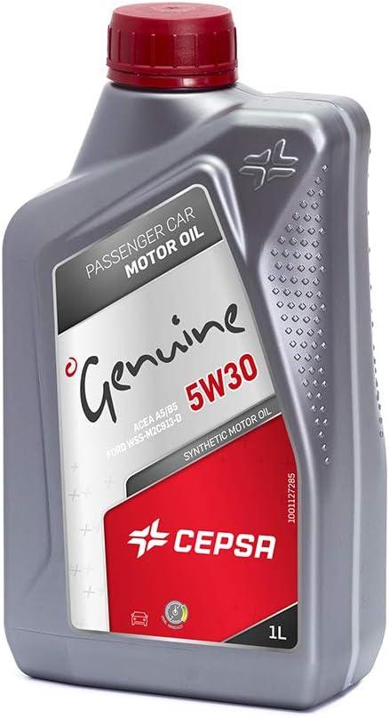 CEPSA 5W30 1L - Lubricante Sintético para Vehículos Gasolina y Diésel, 1 L