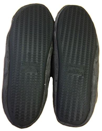 Dearfoams Mocassino In Pelle Scamosciata Da Uomo In Microfibra Con Cuciture Decorative In Memory Foam Pantofole