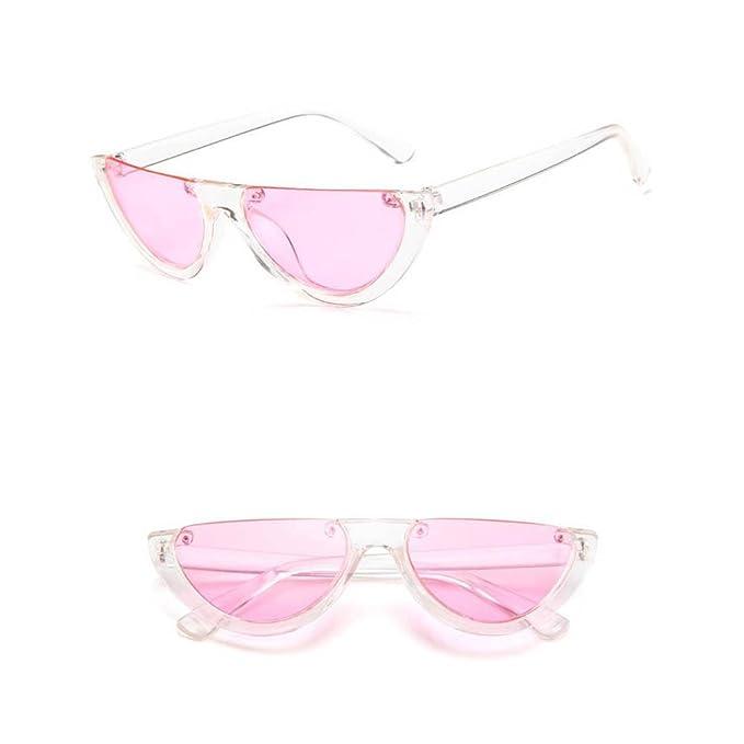 74710c26e9 Amazon.com  Half Sunglasses Narrow Cut 90 s Cat Eye Vintage Thin Sunglasses  Fashion Trend Clout Skinny Shades (Black)  Clothing