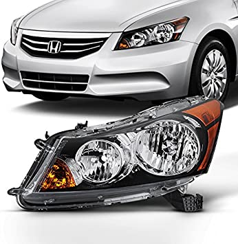 Amazon Com For 2008 2009 2010 2011 2012 4 Door Sedan Honda Accord Left Driver Side Headlight Headlamp Assembly Automotive