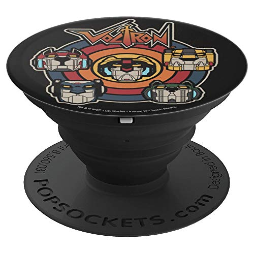 Price comparison product image Voltron Assemble Ensemble Vintage Retro Colors - PopSockets Grip and Stand for Phones and Tablets