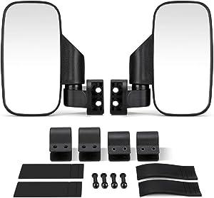 kemimoto UTV Side Mirrors Compatible with Honda Pioneer Polaris RZR Ranger 900 1000 Can Am Kawasaki Mule Yamaha Rhino for 1.6