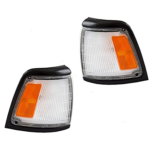 Park Signal Corner Marker Lights Lamps with Black Trim Replacement for Toyota Pickup Truck 8162035080 8161035080 ()