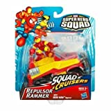 2009 Marvel Super Hero Squad SQUAD CRUISERS REPULSOR RAMMER w/IRON MAN FIGURE by Hasbro