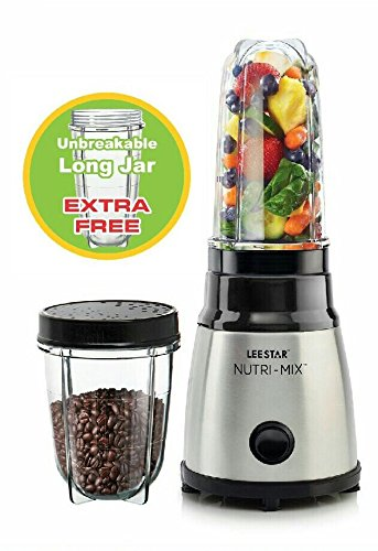 Lee Star 400 Watts Stainless Steel Nutri-Mix (LE-809) with Extra Free Unbreakable long jar