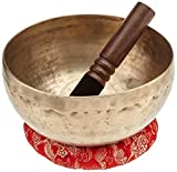 BUDDHAFIGUREN/Billy Held Singing Bowl, Metal, Gold, 16x 16x 12cm 3Units