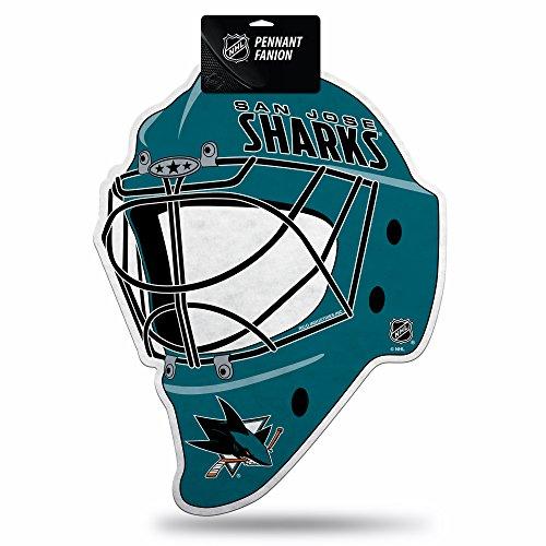 Rico Industries NHL San Jose Sharks Hockey Helmet Die Cut Pennant Décor