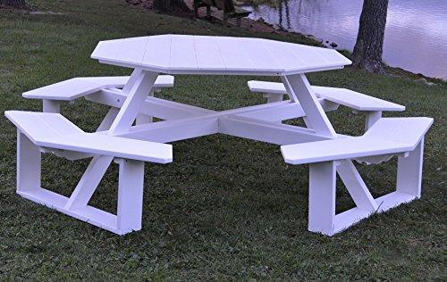 AL Furniture AmishMade Octagonal Poly WalkIn Picnic Table - Walk in picnic table