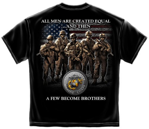 (United States Marine Corps Flag | USMC Brotherhood Shirt ADD55-MM138-5XL)