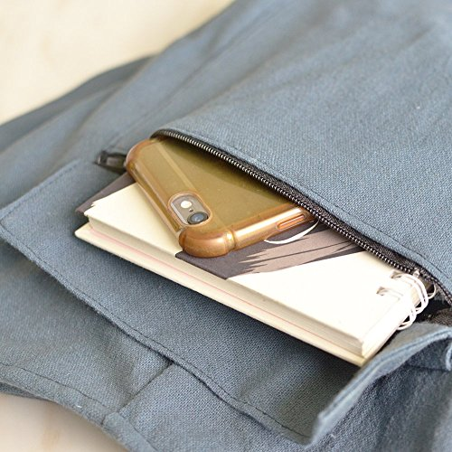 Unisex For Boho Blue Cozy Bag Handmade Your Cotton Crossbody Handbag fT0xq8