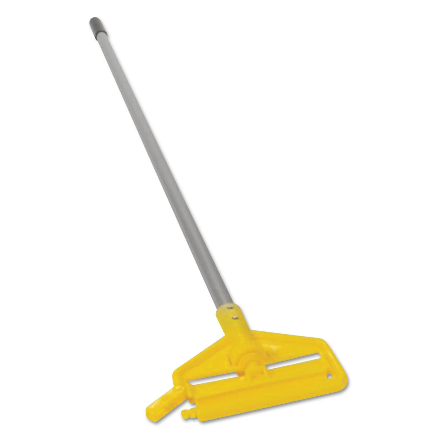 Rubbermaid Commercial H136 Invader Aluminum Side-Gate Wet-Mop Handle, 1 dia x 60, Gray/Yellow