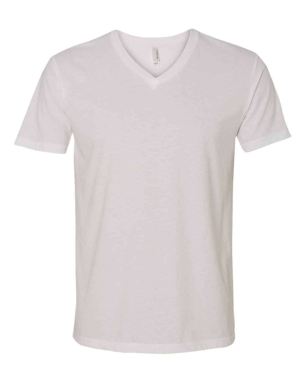 Next Level Apparel 6440 Mens Premium Fitted Sueded V-Neck Tee - White, Large