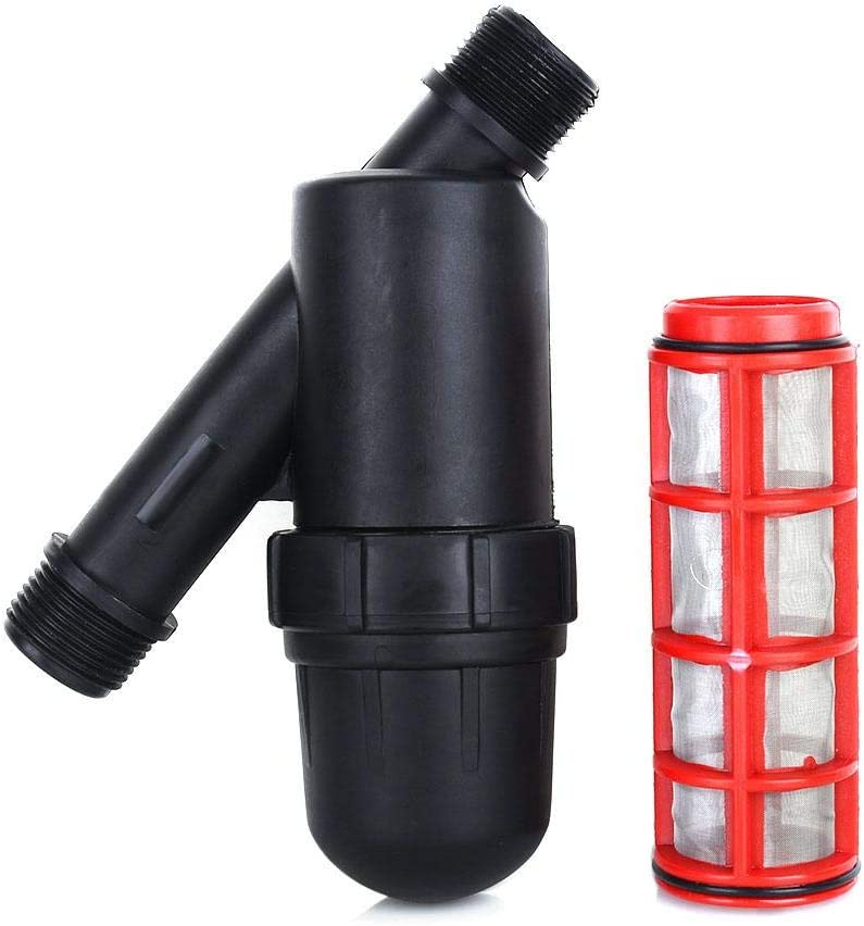 Tnfeeon Filtro de riego de Pantalla, Malla de Acero Inoxidable de 3/4 Pulgadas para Bomba de Tanque de riego por Goteo agrícola de Invernadero para jardín