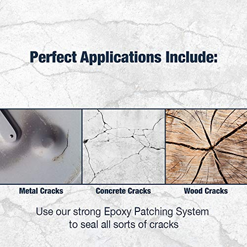 3 Part EPOXY Mortar Patching System - Contains Resin, Hardener & Aggregate. Fills Cracks, Holes, Pits & More! Bonds to Concrete, Asphalt, Wood & Metal. (25 lb Pail) by FDC (Image #4)