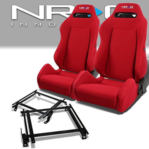 Pair of RSTRLGRD Racing Seats+Mounting Bracket for Acura RSX