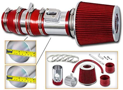 Air Filter intake kit Red 3.5 inch for 07-14 ACURA TL TYPES 3.5L 3.5 3.7 3.7L V6