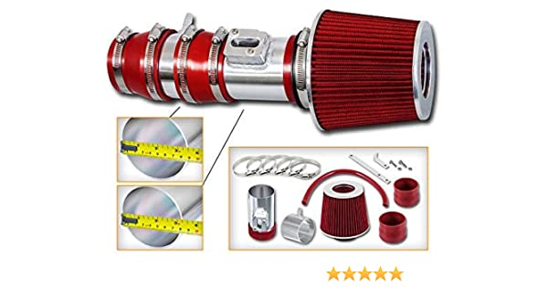 Red Air Intake System Kit Filter For 2010 Acura TL 3.7L V6