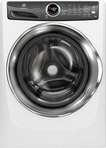 """Electrolux White Front Load Laundry Pair with EFLS527UIW 27"""" Washer, EFME527UIW 27"""" Electric Dryer and STACKIT7X Stacking Kit"""